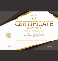Modern certificate or diploma template 9 vector