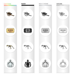 museum history antiquities and other web icon in vector image