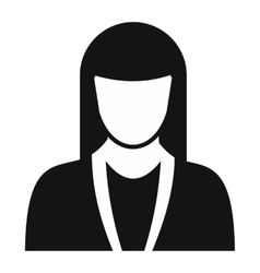 New girl avatar simple icon vector image