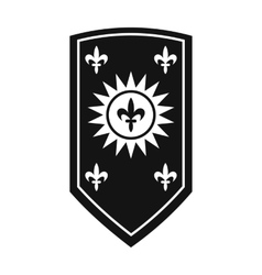 Nice shield icon vector image