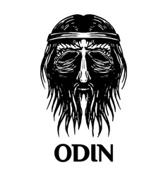 Odin scandinavian ancient god head icon vector