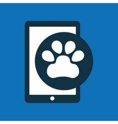 online pet shop and paw vector image