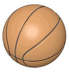 orange basketball ball on white background vector image