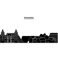 Panama architecture city skyline travel vector