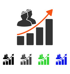 Patient growth chart flat icon vector