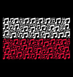 Polish flag pattern of music notes items vector