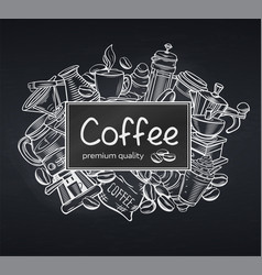 Poster template coffee vector