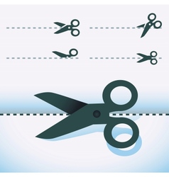Scissors icons vector