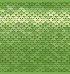 Seamless scale pattern green squama texture vector