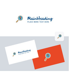 search location logotype with business card vector image