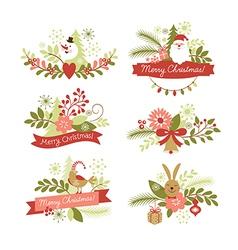 Set christmas graphic elements vector