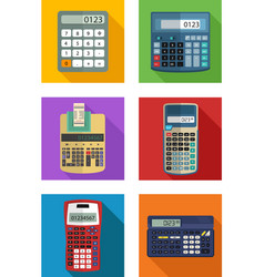 set of calculator with many size and model vector image