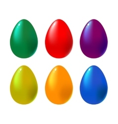 Set of colorful eggs vector image