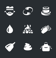 Set of potter icons vector