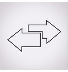 Side arrow icon vector