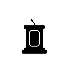 simple podium icon black vector image