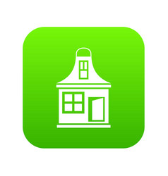 small house icon digital green vector image
