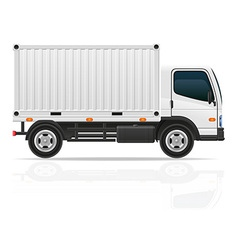 small truck 04 vector image vector image