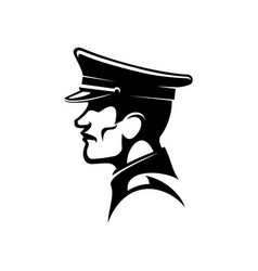 soldat side view isolate german soldier silhouette vector image