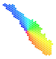 Spectrum hexagon sumatra island map vector