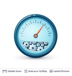 Speedometer with gears vector