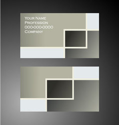 Squares - Business Card vector