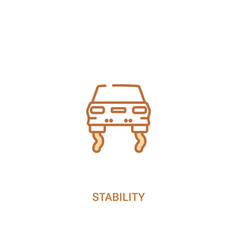 Stability concept 2 colored icon simple line vector