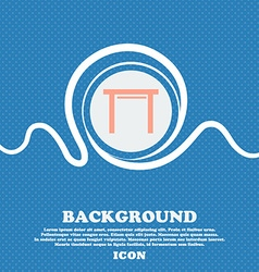 Stool seat icon sign Blue and white abstract vector