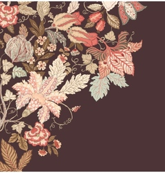 Stylish Vintage Floral Background vector image