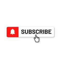 subscribe button for social media subscribe to vector image