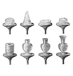 Successive stages of earthenware vessel vector