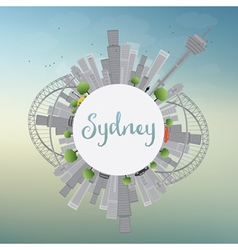 Sydney City skyline with blue sky skyscrapers vector image