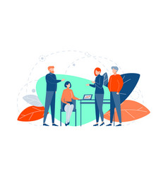 teamwork coworking business meeting concept vector image