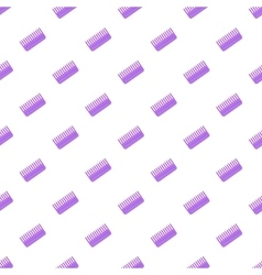 Toothed comb pattern cartoon style vector