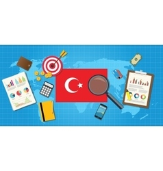 turkey europe economy economic condition country vector image