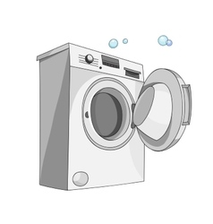 Washing machine isolated on white background vector