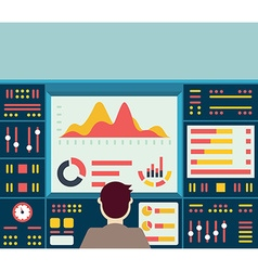 web analytics information on dashboard an vector image