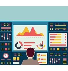 Web analytics information on dashboard vector