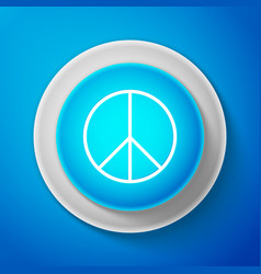 white peace sign isolated hippie symbol of peace vector image