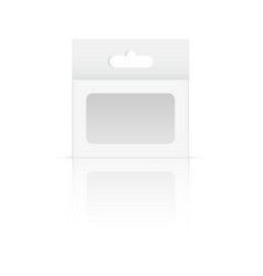 White product package box mock up vector