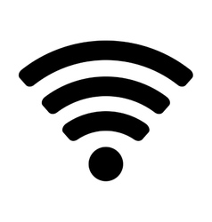 Wifi signal network vector