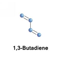 13-Butadiene C4H6 monomer vector image vector image