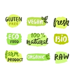 Bio natural food concept vector