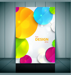 Colorful 3D circles - Business Flyer Template vector image