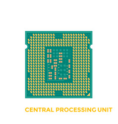 cpu processor vector image