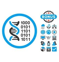 Genetical Code Flat Icon with Bonus vector image vector image