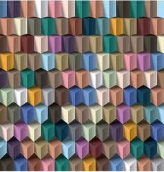 multicolor cube background vector image vector image