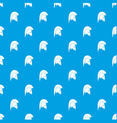 roman helmet pattern seamless blue vector image