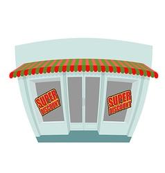 Storefront Super discount Great discount window vector image