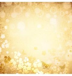 vintage grunge spring background vector image vector image